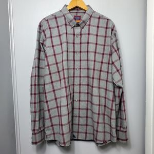 UNTUCKit Gray and Purple Plaid Button Down Shirt